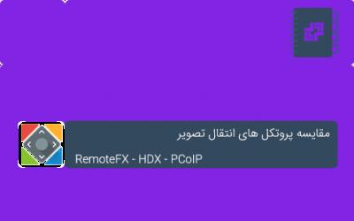 مقایسه پروتکل های انتقال تصویر: RemoteFX ، HDX و PCoIP